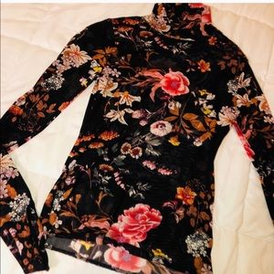 *still available* sheer mesh floral top